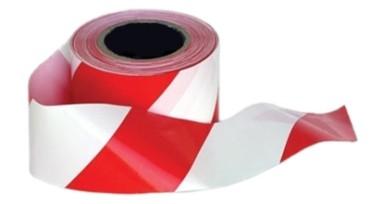 Jelzőszalag (piros-fehér) 18db